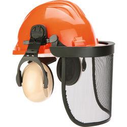 Waldarbeiter-Schutzhelm orange DIN4840