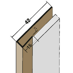 Anschluss-/Einfassprofil 3529 17mm 2,5m