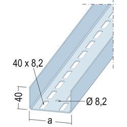 U-Aussteifungsprofil 5130 75-20 2,75m