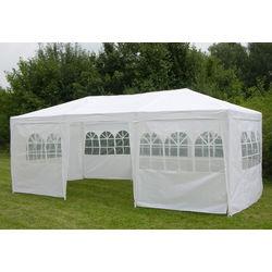 Pavillon mit 8 Seitenwänden weiß 3x6m