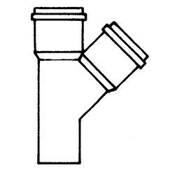 HT-Einfach-Abzweig 45 Grad DN 75/50