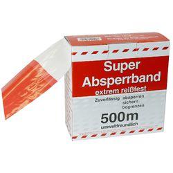 Absperrband 80mm rot/weiß 500 m