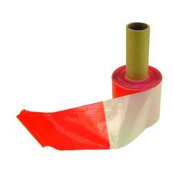Absperrband 80mm rot/weiß 100 m