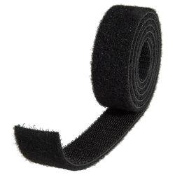 Klett-/Flauschbinder schwarz 25 mm/20 cm