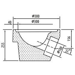 Beton-Boden Teil 21 DN 100 o.Geruchsv.