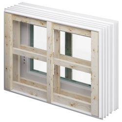 Fenster Stand.3-fach li 800x600x250 H