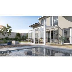 Gartenzimmer Easy 400x300cm weiß