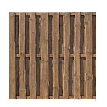 Bohlen-Zaun Natura braun 180x180cm