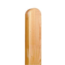 Pfosten mit Bogen Lärche Grau 9x9x105cm