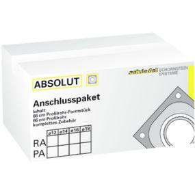 ABS Rauchrohranschl.-Paket 90° 18/33