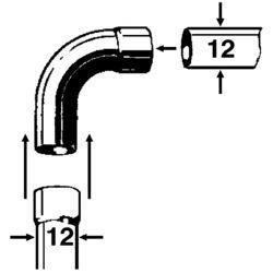 CU-Bogen Ia 90 Grad 12 mm (2 St)
