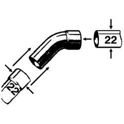 CU-Bogen Ia 45 Grad 22 mm