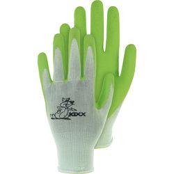 Kinderstrickhandschuh Nylon grün Gr.5
