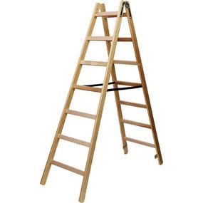 Stehleiter / Malerleiter 8 Stufen Holz