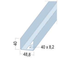 U-Aussteifungsprofil 5129 50-20 4m