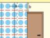 An die Tür von einer Seite Tapezieren
