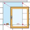 Das Fenster wird auf Tragklötze in die Maueröffnung eingesetzt
