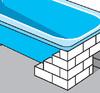 Einmauern der Wanne mit Porenbeton