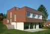 Haus mit brauner Außenwandfassade