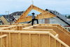 Montieren des Dachmoduls aus Konstruktionsholz