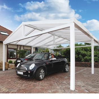 Gardendreams Einzel-Satteldach-Carport 368 x 500 cm weiß
