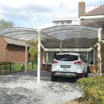 Gardendreams Doppel-Bogen-Carport 600 x 500 cm weiß