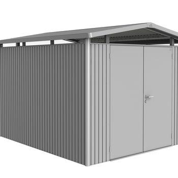 Biohort Panorama P5 Gerätehaus 273 x 318 cm silber-metallic