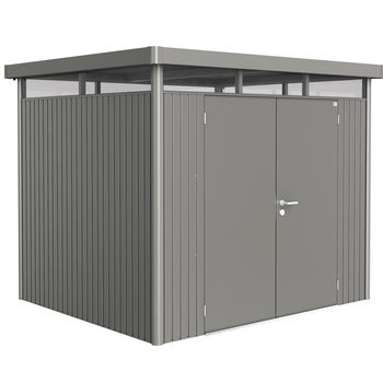 Biohort HighLine H3 Gerätehaus 275 x 235 cm quarzgrau-metallic