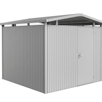 Biohort Panorama P4 Gerätehaus 273 x 278 cm silber-metallic