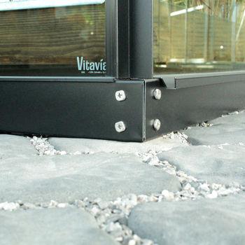 Vitavia Fundamentrahmen 3800 schwarz 6cm