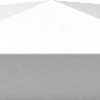 GroJa BasicLine Abdeckkappe Weiß 87x87mm