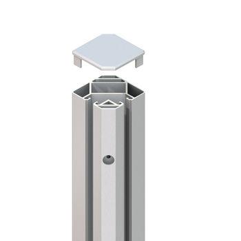 TraumGarten SYSTEM Eck-Klemmpfosten silber L1925