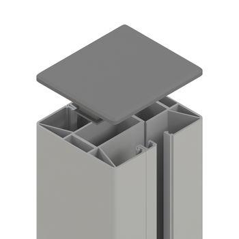 TraumGarten SYSTEM Klemmpfosten silber L1050