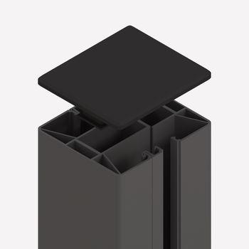 TraumGarten System Klemmpfosten anthrazit L1050