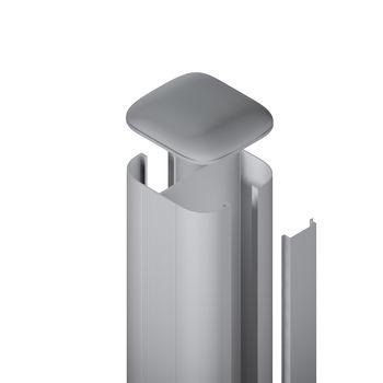 TraumGarten SYSTEM Pfosten Basic silber Erdv. L2400