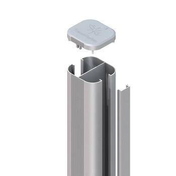 TraumGarten SYSTEM Pfosten Basic silber Erdv. L1500