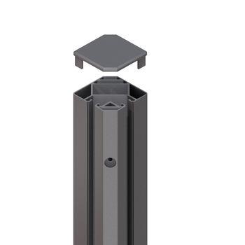 TraumGarten System Eck-Klemmpfosten anthrazit L1050