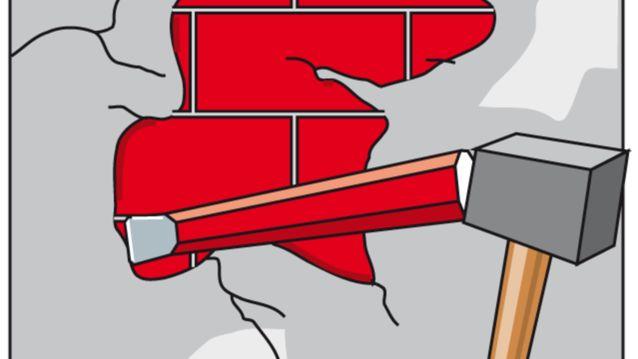 Wandschäden mit Flachmeisel entfernen