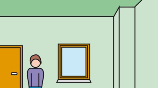 Störende Ecken in gleicher Farbe streichen