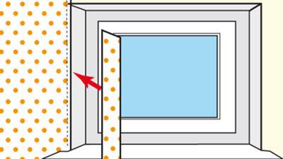 Tapezieren der Fensternische