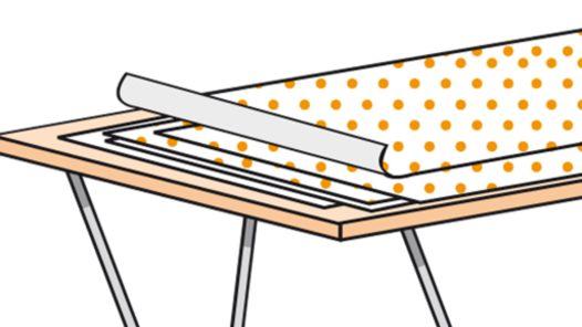 Tapetenbahnen an Musterbahn messen und anpassen