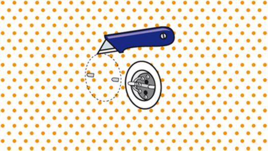Dosen mit Cuttermesser freischneiden
