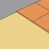 Korkplatten-Verlegung mit Verlegeplatten