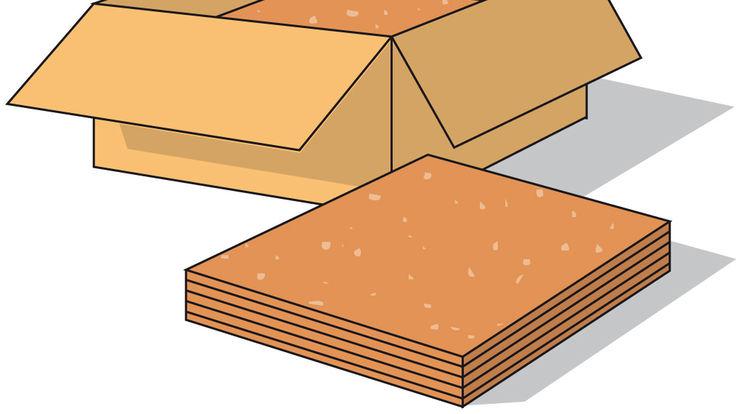 Handliche Korkplatten