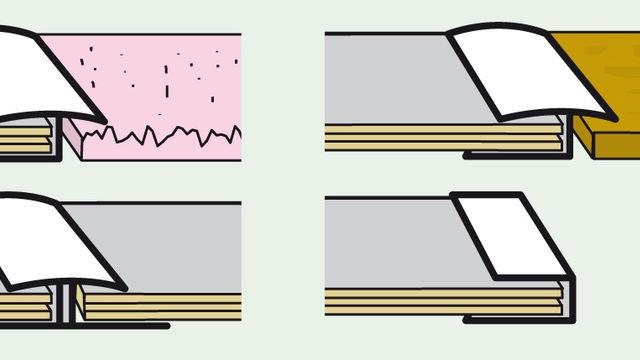 Übergänge mit Profilschiene kaschieren