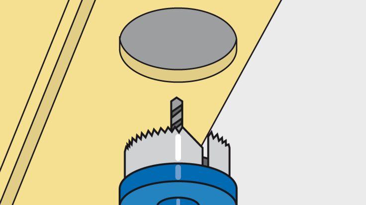 Herstellen von Montageöffnungen mit Dosenschneidern