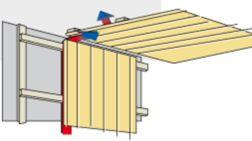 Luftzirkulation bei Wand- und Deckenholzverkleidung