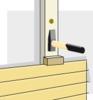 Senkrechte Ladung bei waagerechter Holzvertäfelung