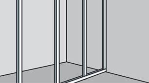 Bei Trennwänden eine Profilschine verwenden