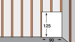 Holzprofile entsprechen halber Plattenbreite